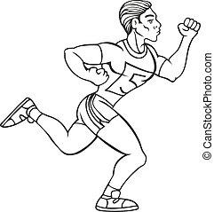 Male Runner Line Art
