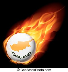 Round glossy icon of Cyprus - Flag of Cyprus as round glossy...