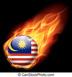 Round glossy icon of Malaysia - Flag of Malaysia as round...