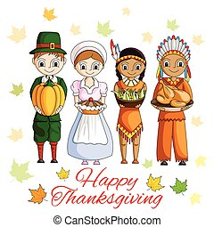 Happy Thanksgiving wallpaper background - vector...