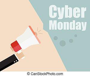 Sale banners design. Cyber monday sale inscription design...