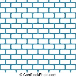 Brick wall, stone wall seamless vector pattern