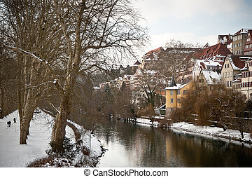 Tubingen seen from the river Neckar, Germany - Tubingen seen...
