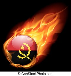 Round glossy icon of Angola - Flag of Angola as round glossy...