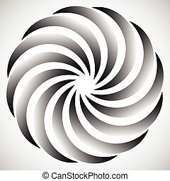 Abstract circular element. Spinning, swirling forms, shapes....