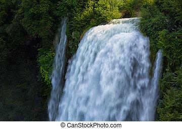 Man-made waterfall Cascata Delle Marmore Terni, Umbria,...