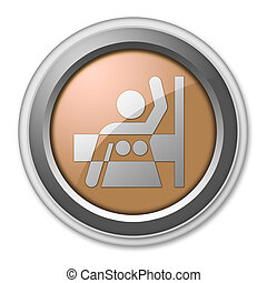 Icon, Button, Pictogram Mammography - Icon, Button,...