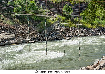 Practice Gates for Whitewater Kayaks - Gates hang for...