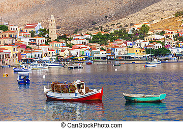 traditional Greece -pictorial Chalki island - Beautiful...