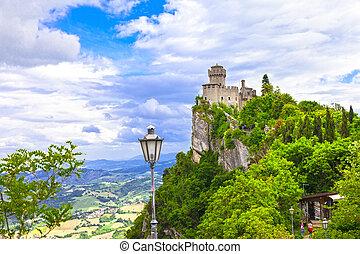 San Marino - view with Rocca della Guaita - View With Rocca...
