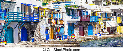 Traditional Greece- village Klima on Milos island - Klima...