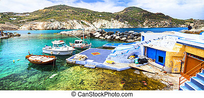 colors of Greece - traditional fishing village Mandrakia,...
