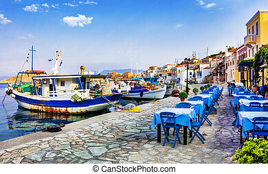 traditional Greece series - Chalk. - Chalki Island With Old...