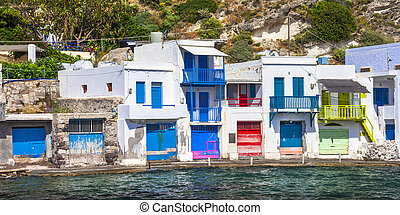 Traditional Greece- village Klima on Milos island -...