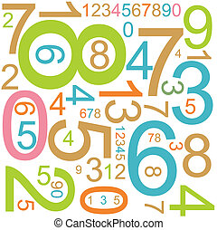 background with colorful numbers - Abstract background with...