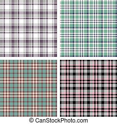 Collection of seamless plaid patterns