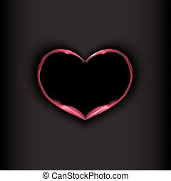 Heart on black background