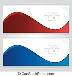 Bright red blue background. Abstract colorful illustration with on gray background