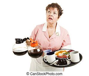 Busy Waitress