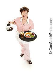 Waitress Serves You - Full Body