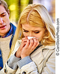 Woman crying after Quarreling With Man - Betrayal and...