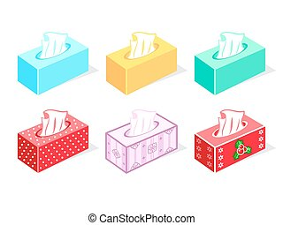 Tissue boxes - Colorful tissue boxes for health care and...