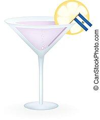 El Salvador Cocktail - Cocktail with a flag of El Salvador