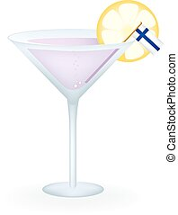 Finland Cocktail - Cocktail with a flag of Finland