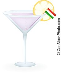 Hungary Cocktail - Cocktail with a flag of Hungary.