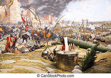 Fall of Constantinople - ISTANBUL, TURKEY - OCTOBER 14,...
