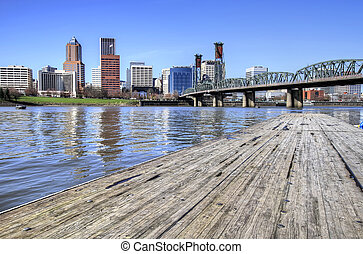 Portland Skyline from the Docks