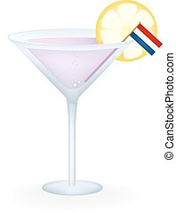 Netherlands Cocktail - Cocktail with a flag of the...