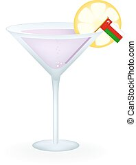 Oman Cocktail - Cocktail with a flag of Oman.