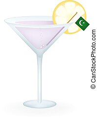 Pakistan Cocktail - Cocktail with a flag of Pakistan