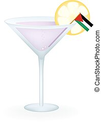 Palestine Cocktail - Cocktail with a flag of Palestine.