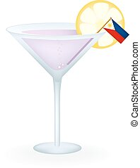 Philippines Cocktail - Cocktail with a flag of the...