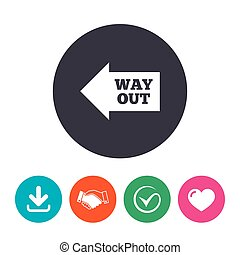 Way out left sign icon Arrow symbol Download arrow,...