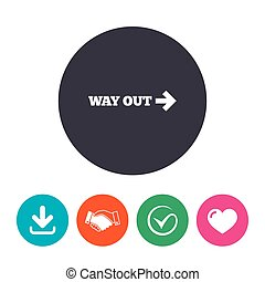 Way out right sign icon Arrow symbol Download arrow,...