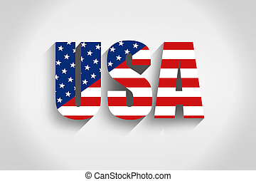 United States of America inscription in the flag style