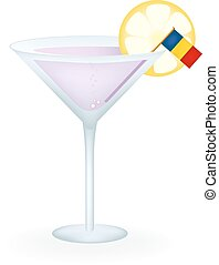 Romania Cocktail - Cocktail with a flag of Romania