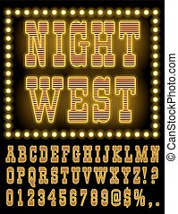 Vegas Night Font - Retro Wild West Saloon or Vegas Casino...