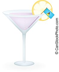 Saint Lucia Cocktail - Cocktail with a flag of Saint Lucia