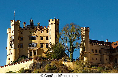 Castle of Hohenschwangau in Germany
