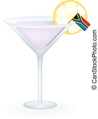 South Africa Cocktail - Cocktail with a flag of South Africa...