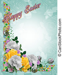 Easter Flowers border roses