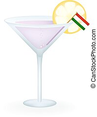 Tajikistan Cocktail - Cocktail with a flag of Tajikistan