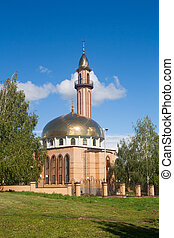 The mosque in Nizhnekamsk town (Tatarstan, Russia) in a...