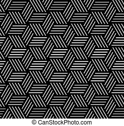 Seamless op art pattern Geometric texture Vector art