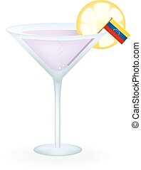 Venezuela Cocktail - Cocktail with a flag of Venezuela