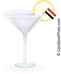 Yemen Cocktail - Cocktail with a Yemen flag.